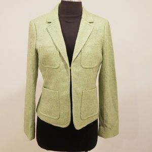 J. Crew Green Tweed 100% Wool Jacket/Blazer